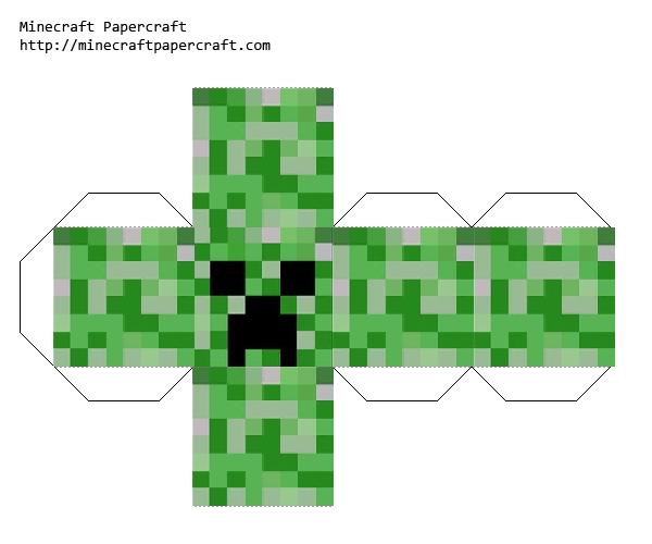 Papercraft Creeper Head Minecraft Party Minecraft Printables Minecraft Printables Free