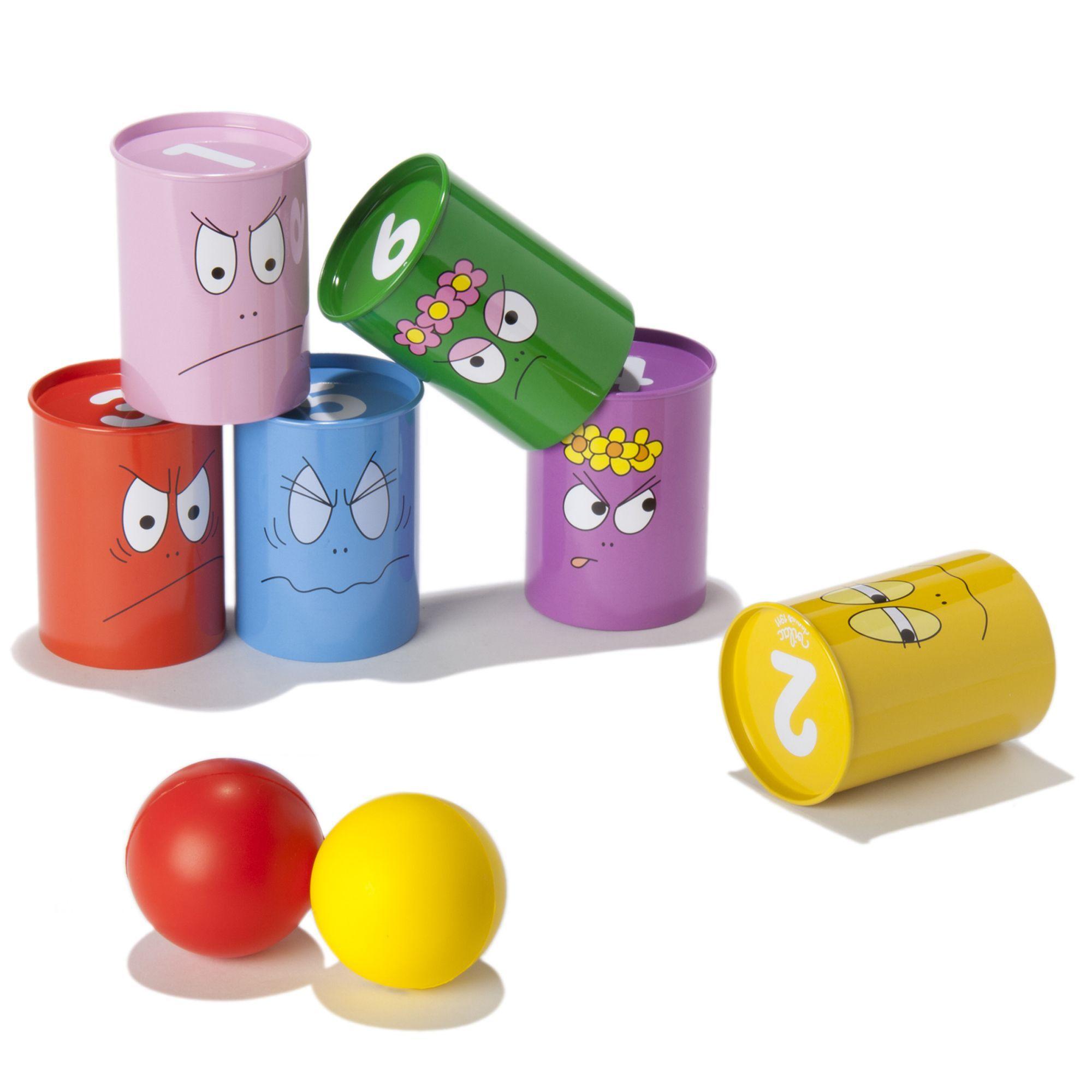 jeu de chamboule tout multicolore barbapapa jouets d. Black Bedroom Furniture Sets. Home Design Ideas