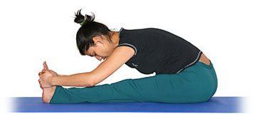 la pinza  paschimottanasana  posturas de yoga yoga asana