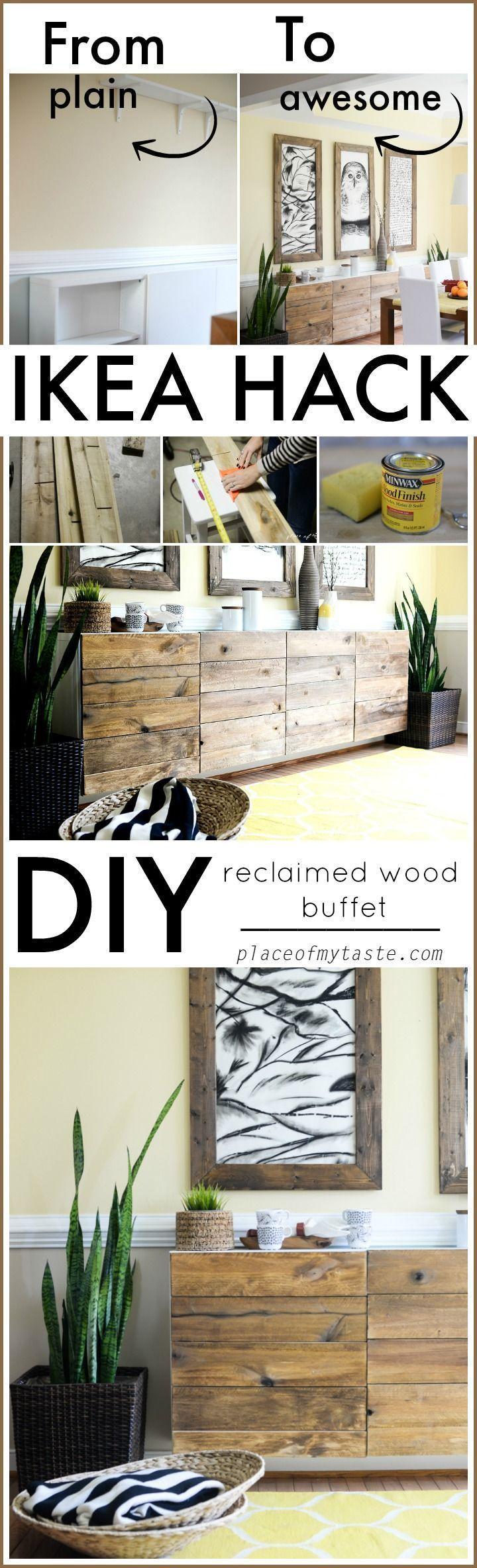 diy reclaimed wood bufet ikea hack schr nke upstylen. Black Bedroom Furniture Sets. Home Design Ideas