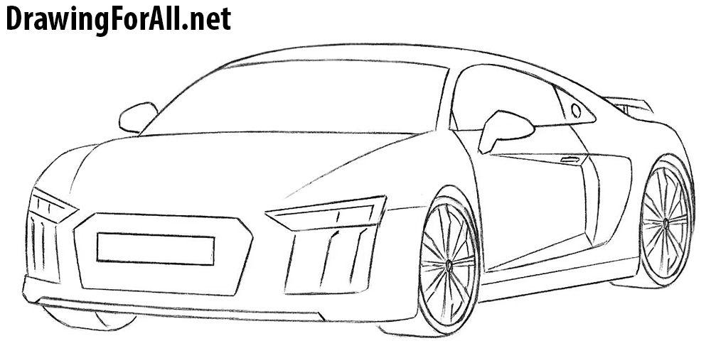 How To Draw An Audi R8 Audi R8 Audi Car Drawings