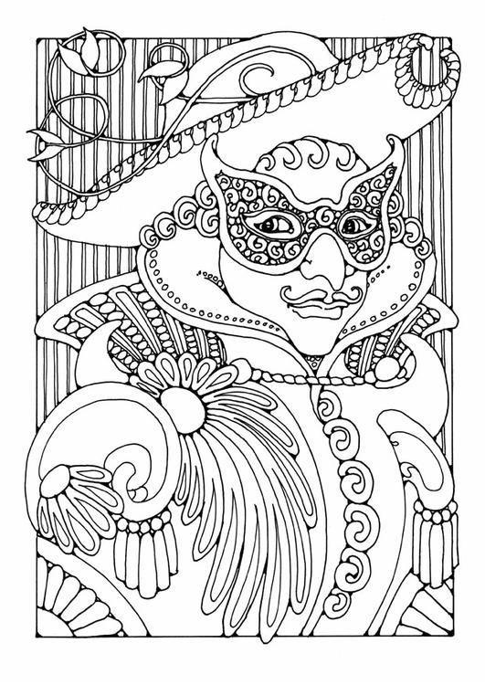 Masquerade Coloring Page By Dandi Palmer