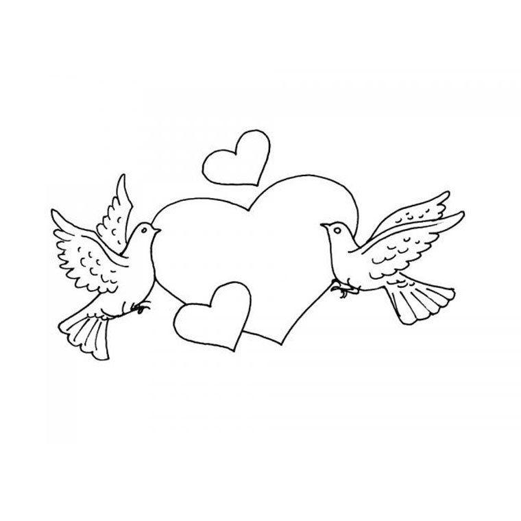 Dibujos para pintar de corazones Dibujos para colorear de
