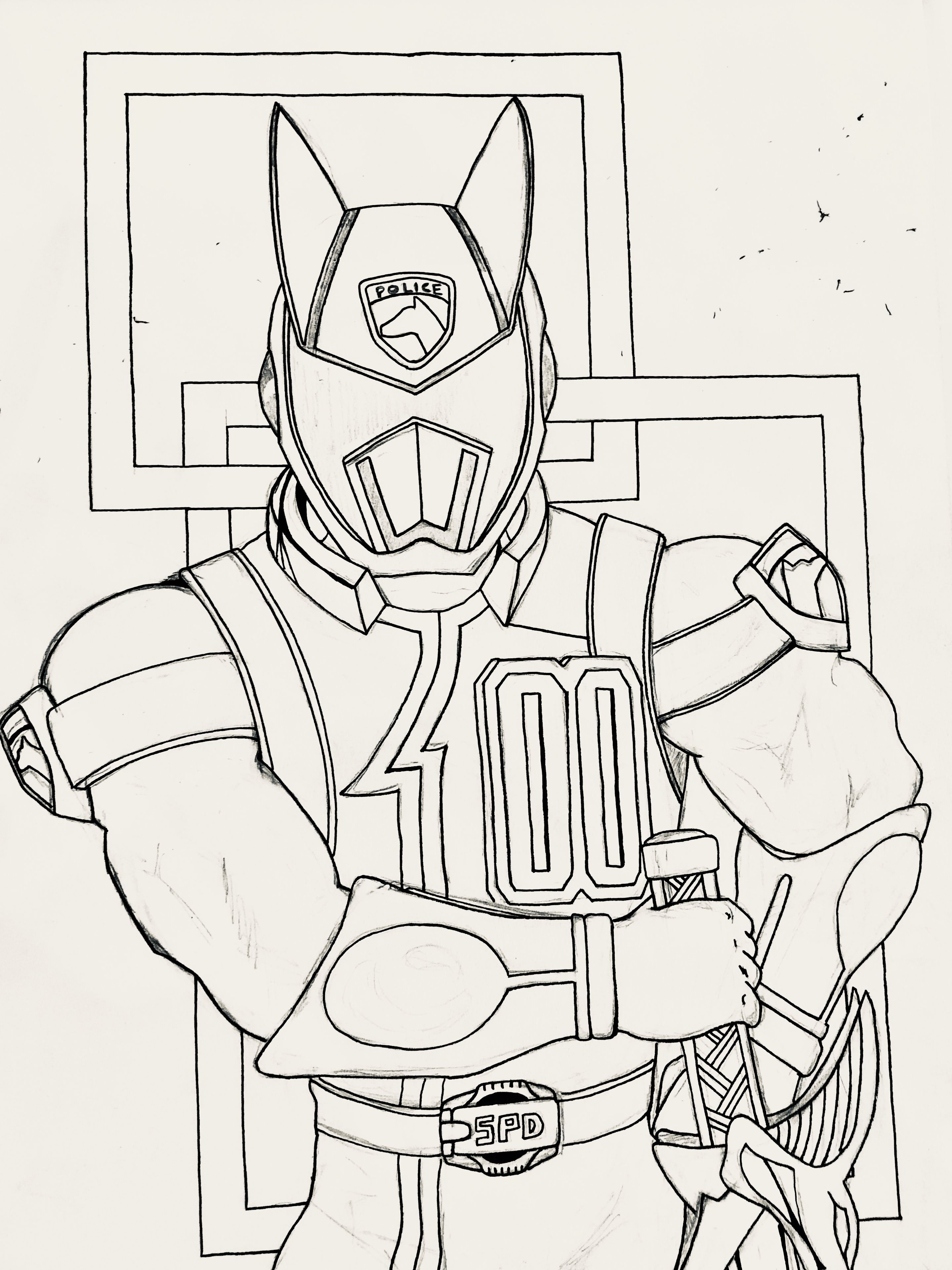 Pin on Power Ranger Colouring Pages