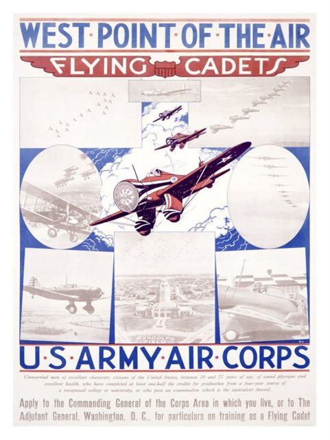 WWII AAF Army Air Corps Aviation Mechanic Poster Giclee
