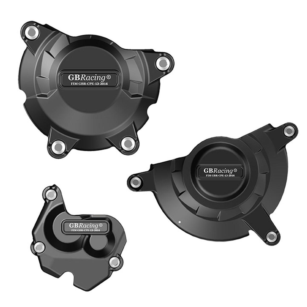 Engine Case Cover Protector Slider Set Kawasaki ZX10R 2011 2016 Black
