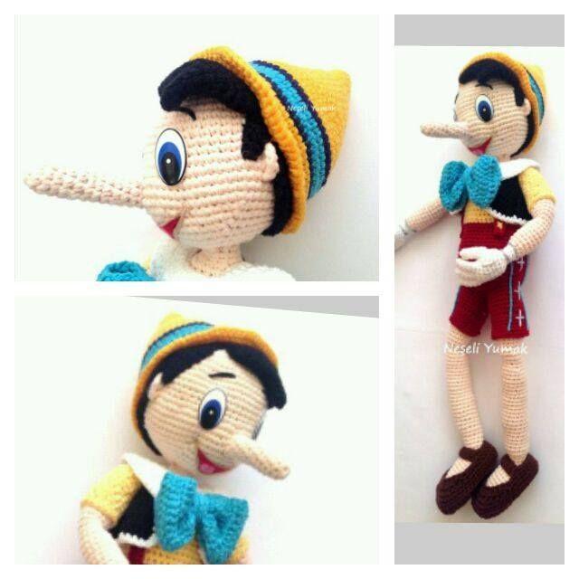 Pinocho | AMIGURUMIS | Pinterest | Croché, Ganchillo y Ganchillo crochet