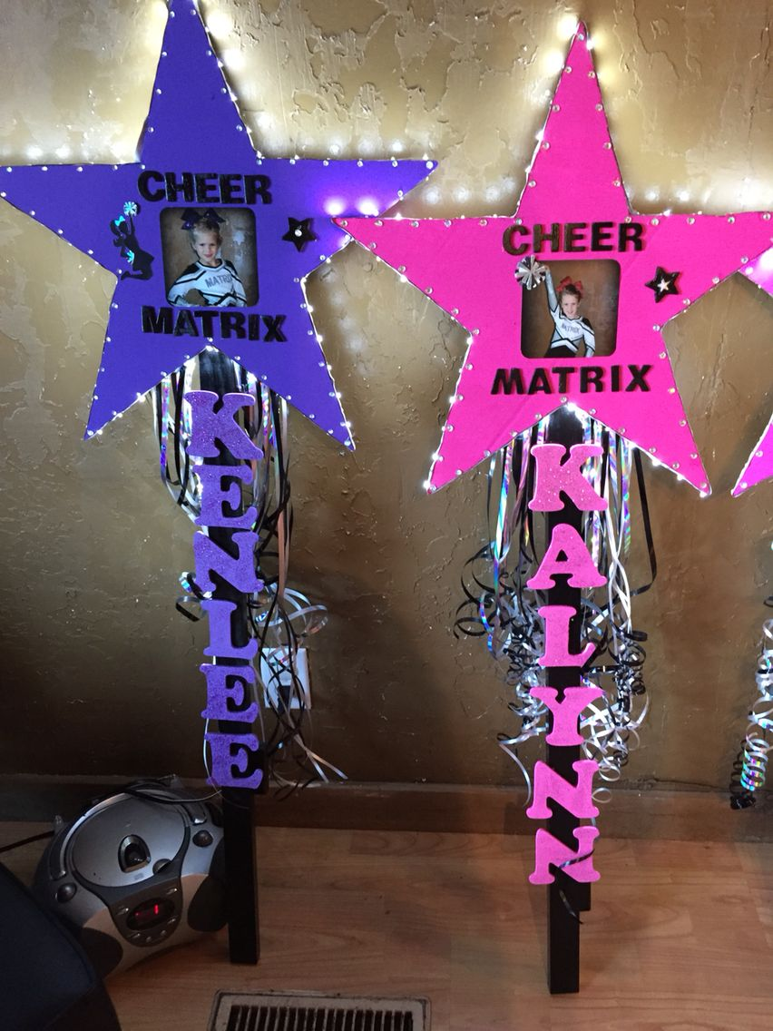 Cake Craft And Decoration Competition : Cheer competition star sign with lights! Matrix ...