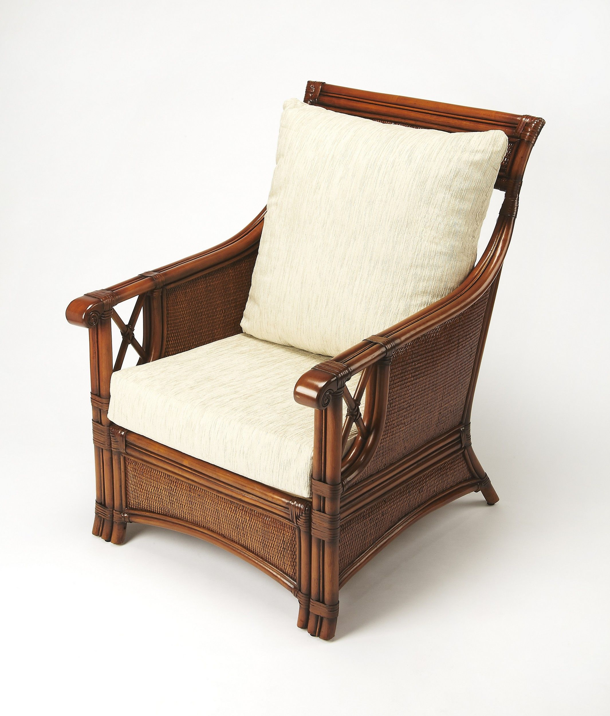 Lowest Price On Butler Specialty Arihi Rattan Club Chair 9363399 Shop Today Club Chairs Chair Rattan Chair