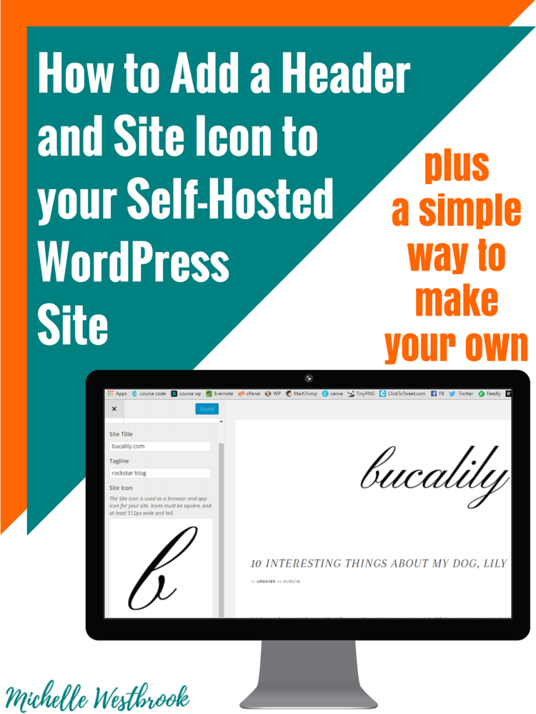 How to add a header image and site icon to your self