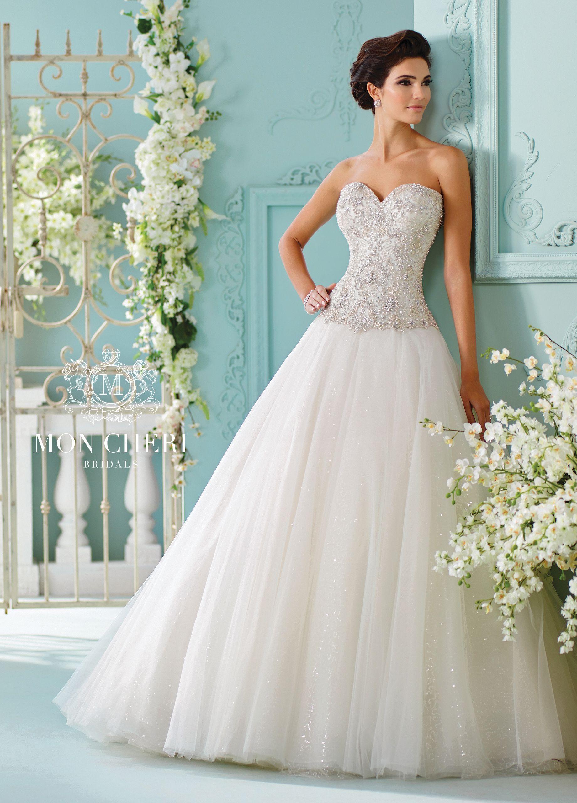 Strapless Tulle with Swarovski Crystals Wedding Dress- 216258 Saphia