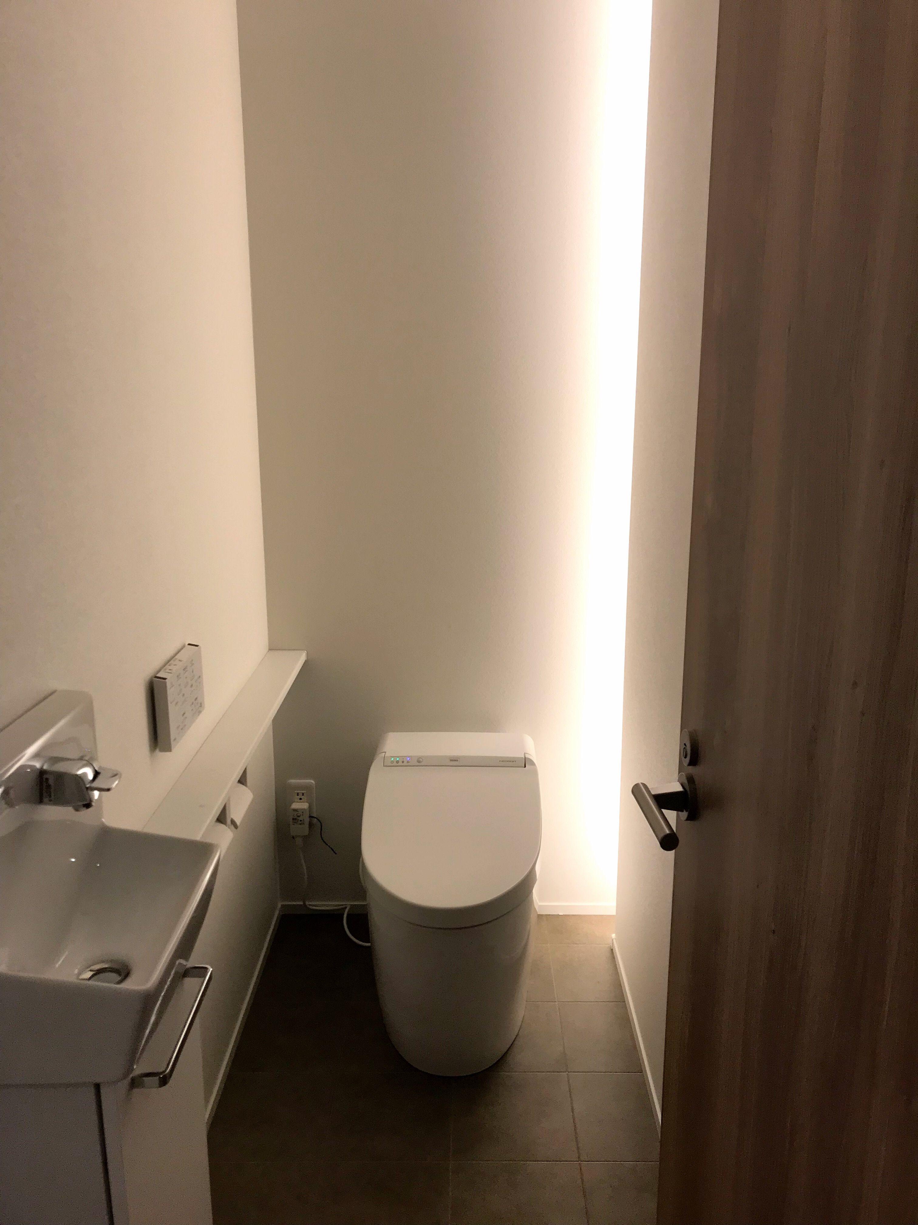 トイレ 間接照明 オシャレ 家 住宅 トイレ