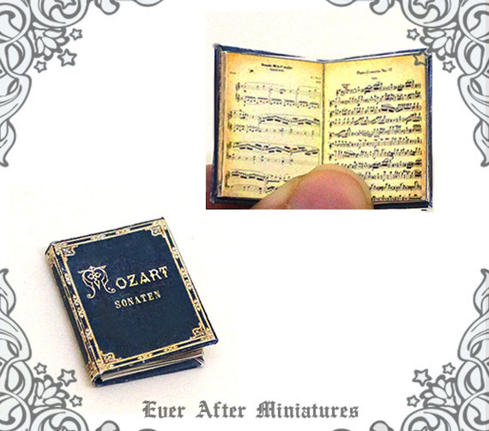 MOZART Music Sheet Dollhouse Miniature Book 1:12 Mozart | Etsy