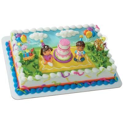 Callies 3rd birthday cake idea She loves Dora and Diego Publix