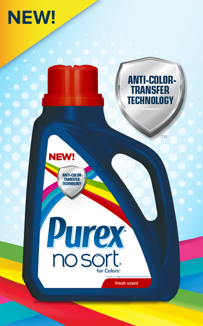 Purex No Sort Laundry Detergent Features A Breakthrough Anti Color