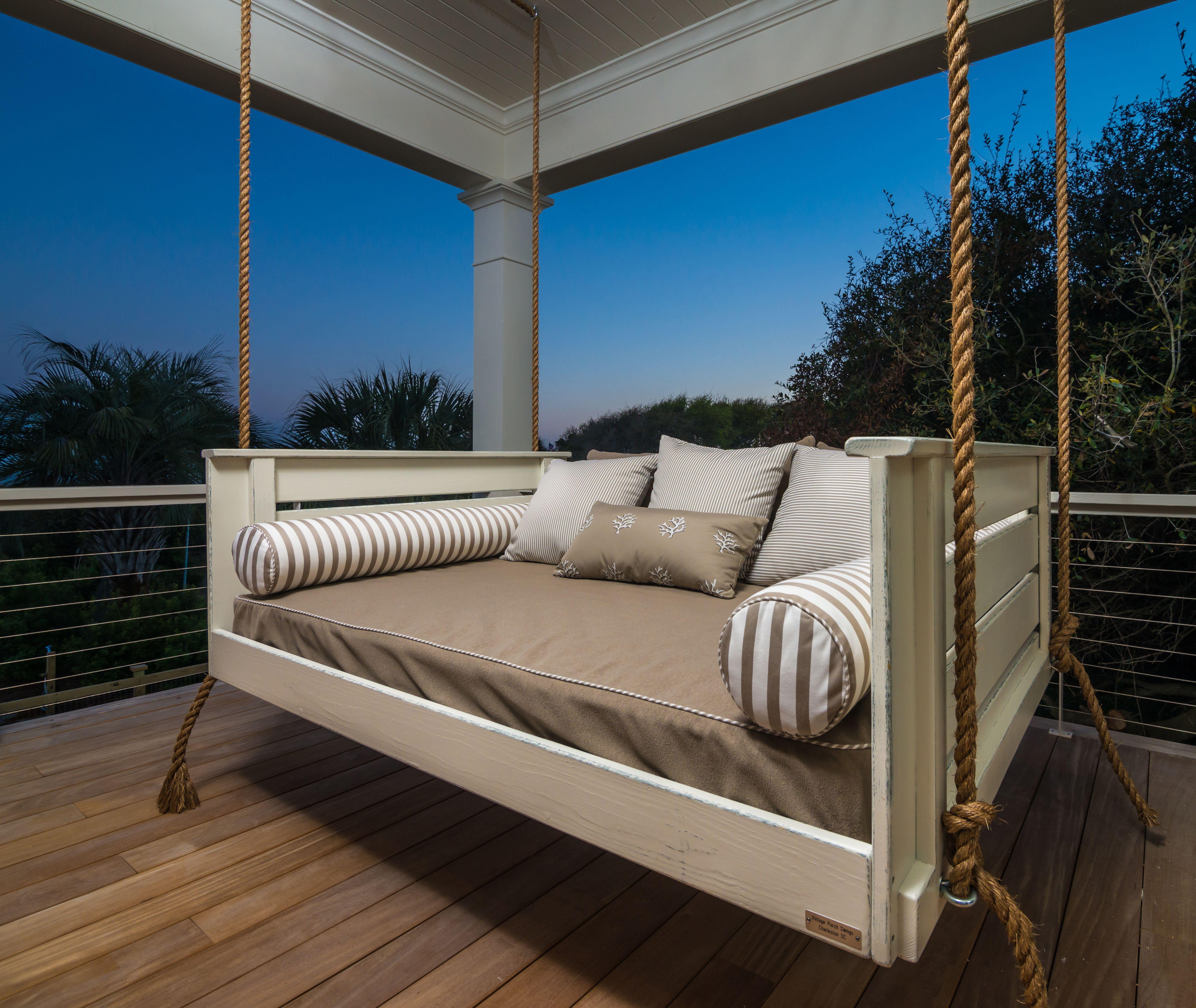 Joshua Porch swing, Vintage porch, Porch bed