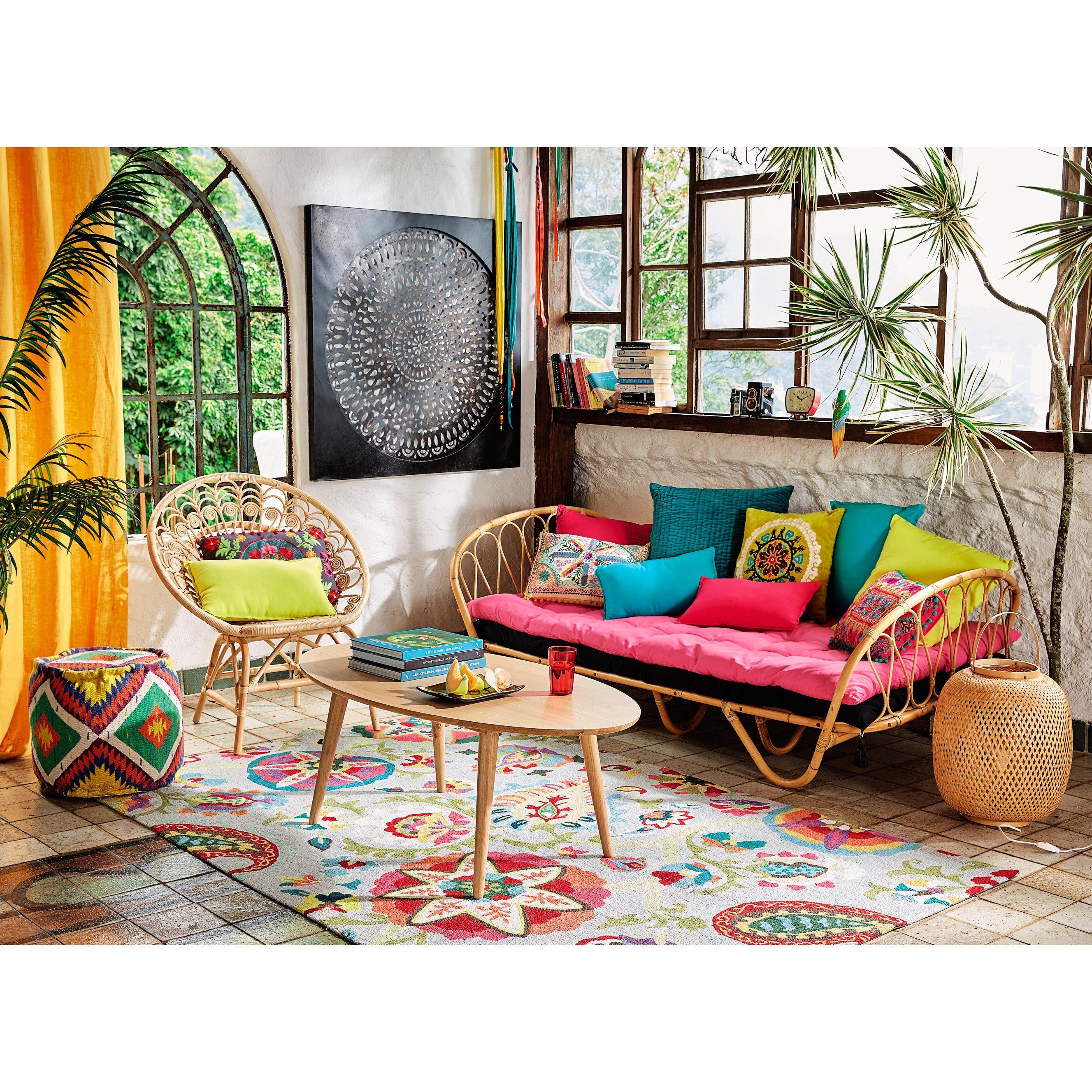 Coussin en coton multicolore 30 x 50 cm | Maison du monde ...