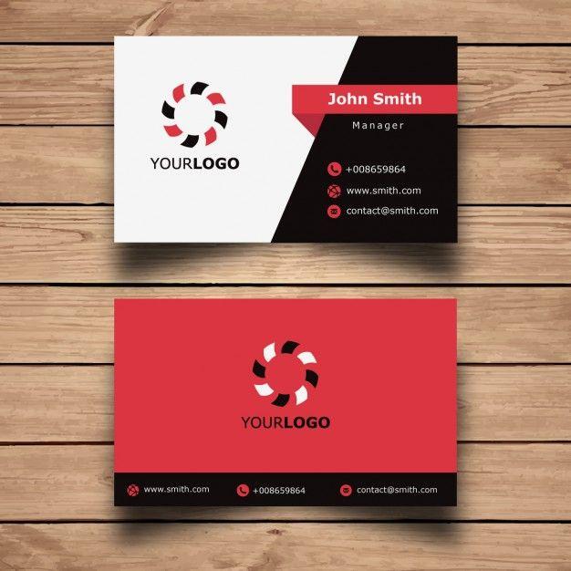 Simple Red Projeto de cartu00e3o : Business cards, Business ...