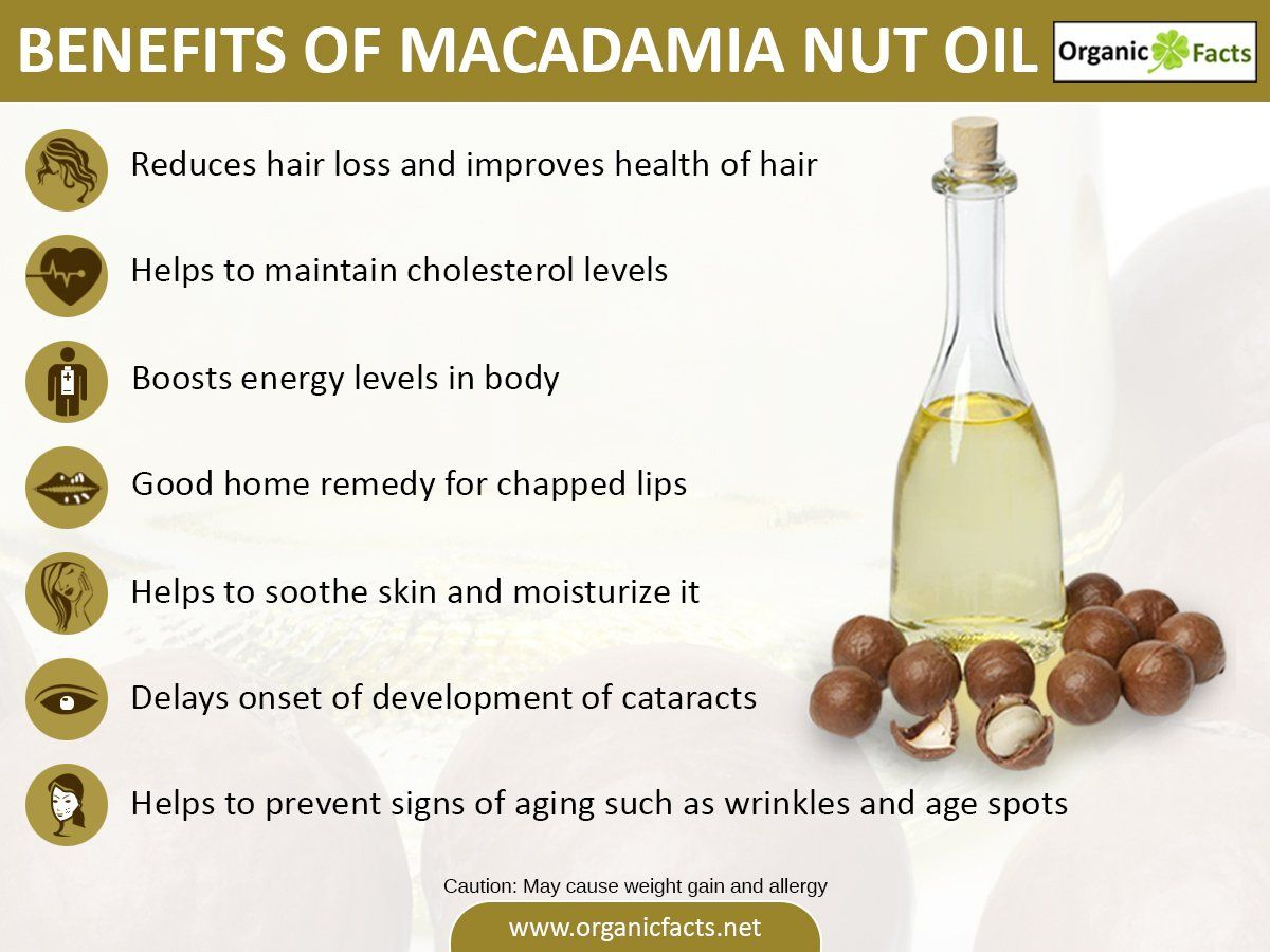 Some Of The Most Important Health Benefits Of Macadamia Nut Oil Include Its Ability To Lower Triglyceride Levels Impr Macadamia Nut Oil Health Nutrition Facts
