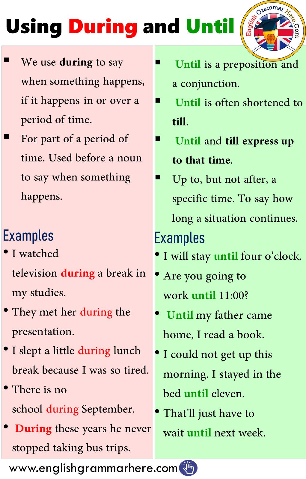 Während Auf Englisch