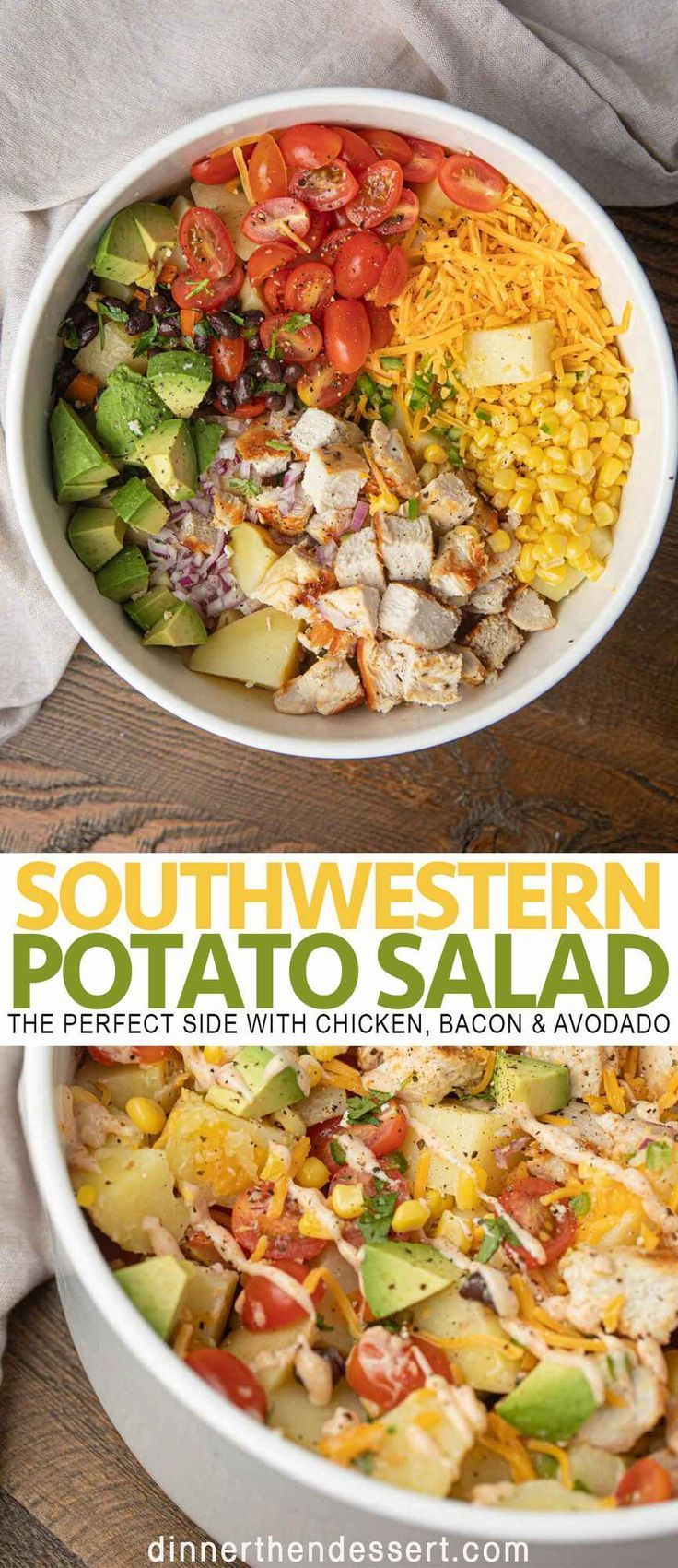 Southwestern potato salad is a delicious side dish to bring to your next summer cookout or BBQ.