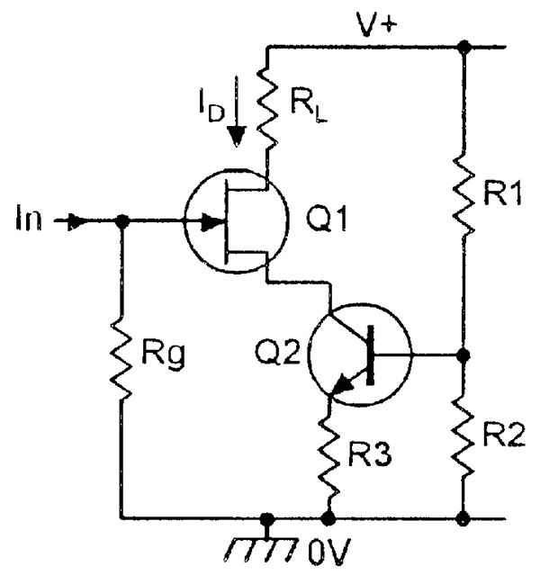 constant current biasing system electronic schematics rh pinterest co uk Regulator as Current Source Current Source
