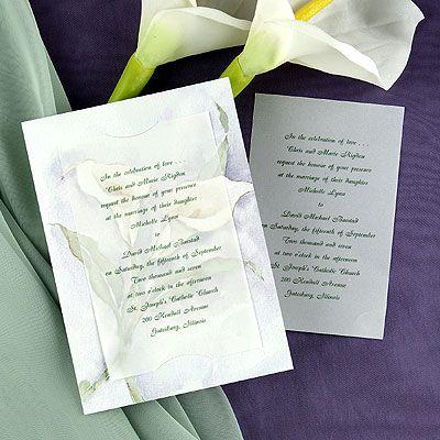 Calla Lily Wedding Invitations Calla Lily Wedding Lily Wedding