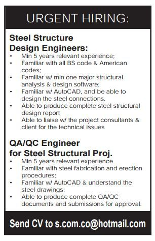 Qatar Urgently Required Peekter Com Job Website Structural Analysis Job Posting