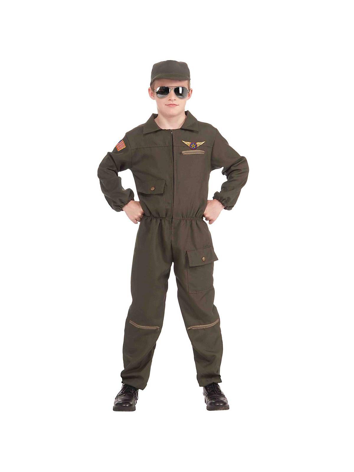 Popular Kids Halloween Costumes 2019.Child Fighter Jet Pilot Costume Costumes In 2019 Boy