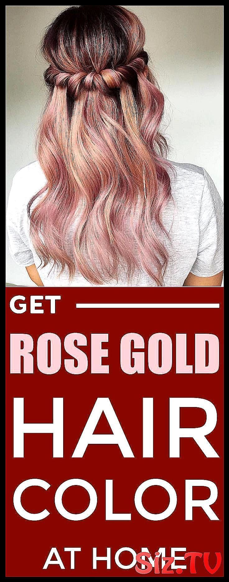 How To Get Rose Gold Hair Color At Home With Natur Color Diy Gold Hair Home Hair Color Rose Gold Gold Hair Colors Rose Gold Hair