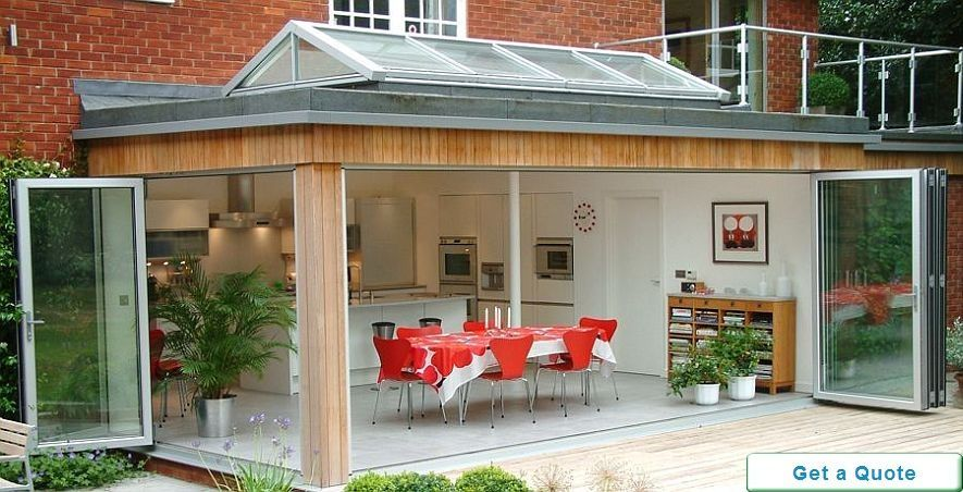 Origin corner bifolding door opening out to garden - available from ...