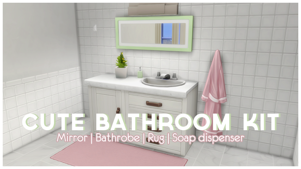 Cute Bathroom Kit Here Is Another Tiny Set Of Recolors They Probably Have Been Done Before But I Wanted To Make M Sims Sims 4 Custom Content Sims 4