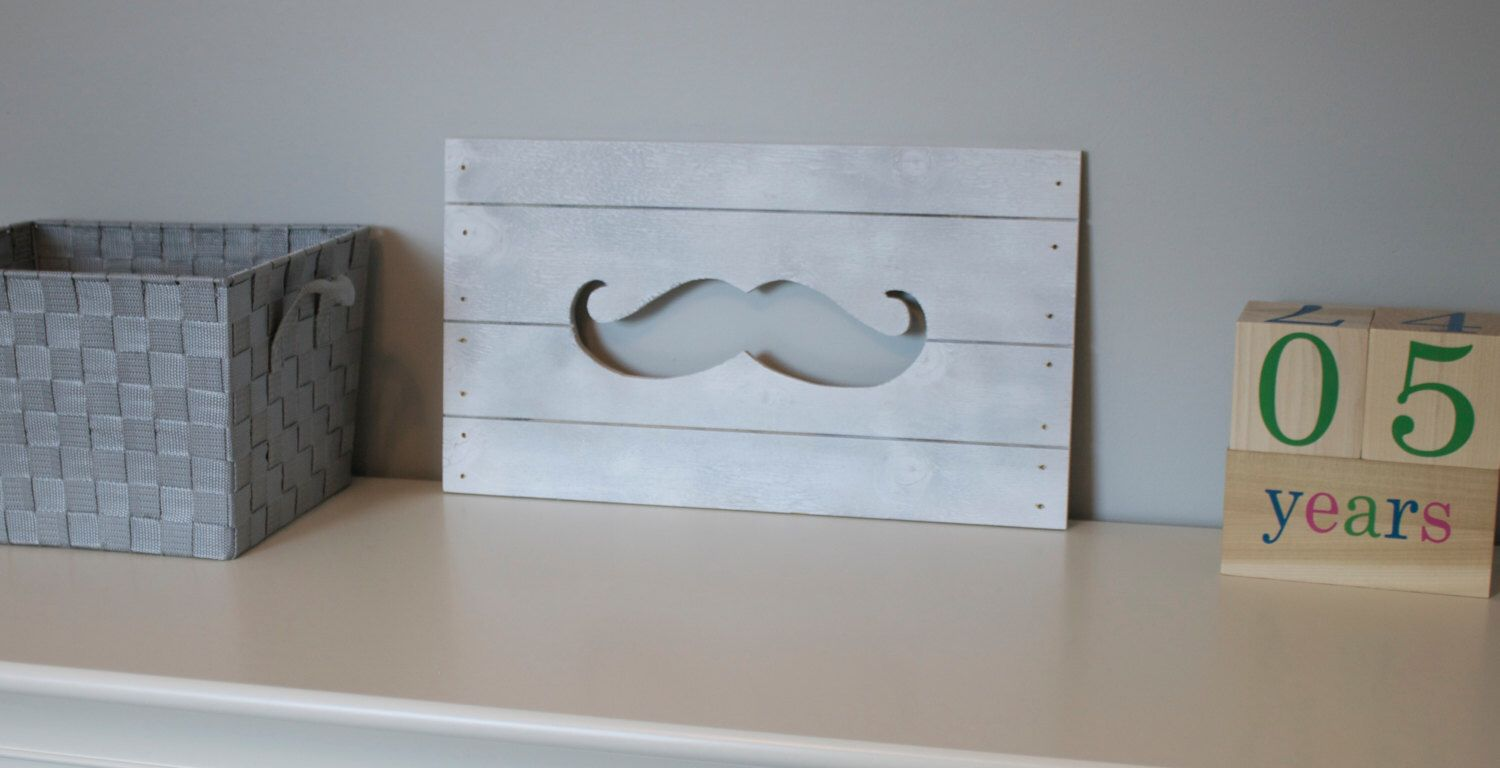 Mustache Wall Decor / Mustache Decor / Mustache Wood Wall Art / Mustache  Home Decor