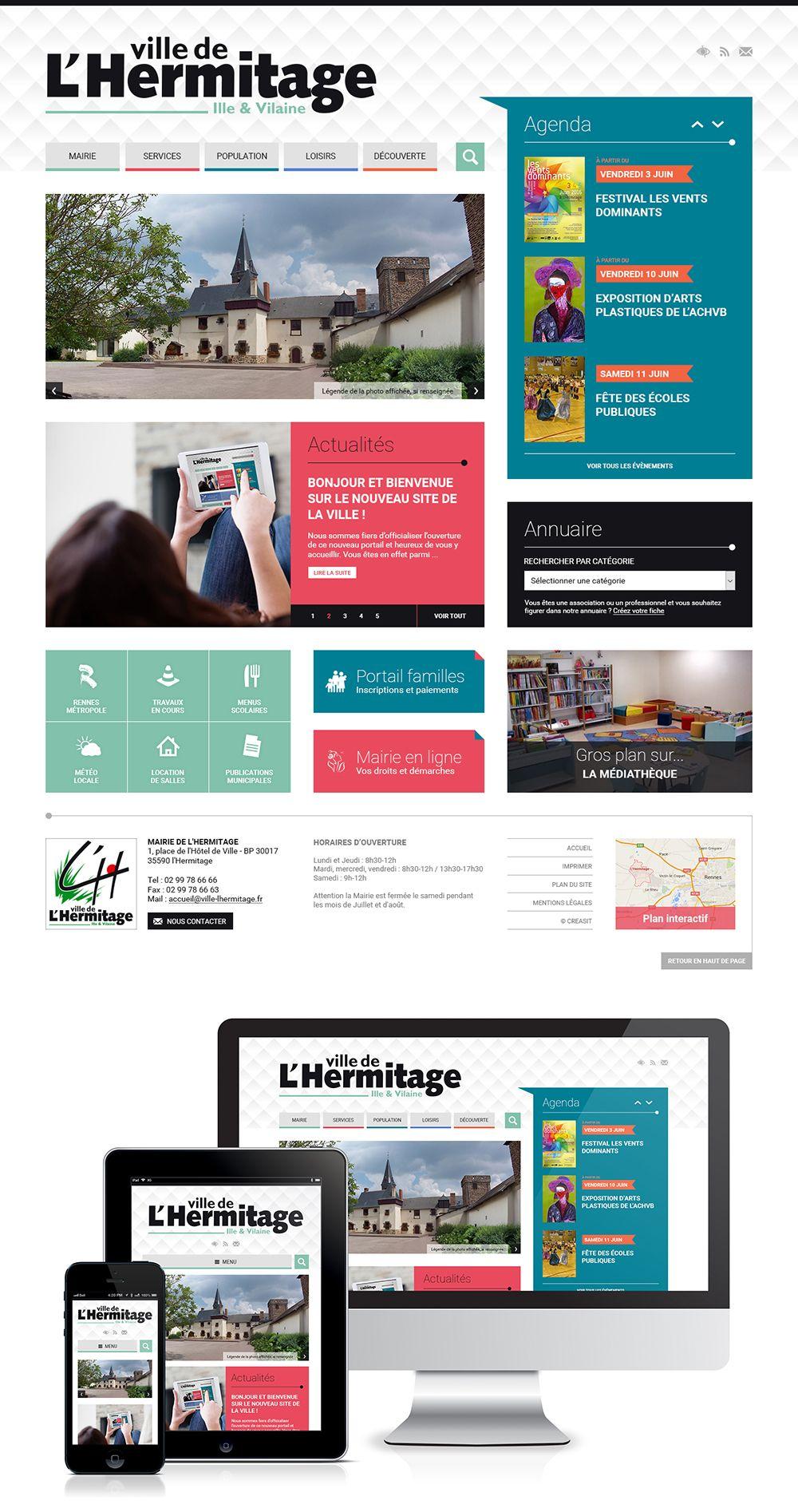 Createur De Site Internet création du site web de la mairie de l'hermitage (35) : #web