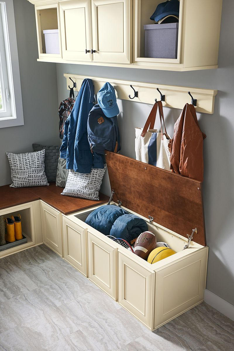 Charmant Bench Storage In A Mudroom Featuring Durable Cabinets From The Atherton  Collection At The Home Depot