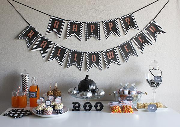 Free Halloween Printable Banner | Printable Party Decor | All ...