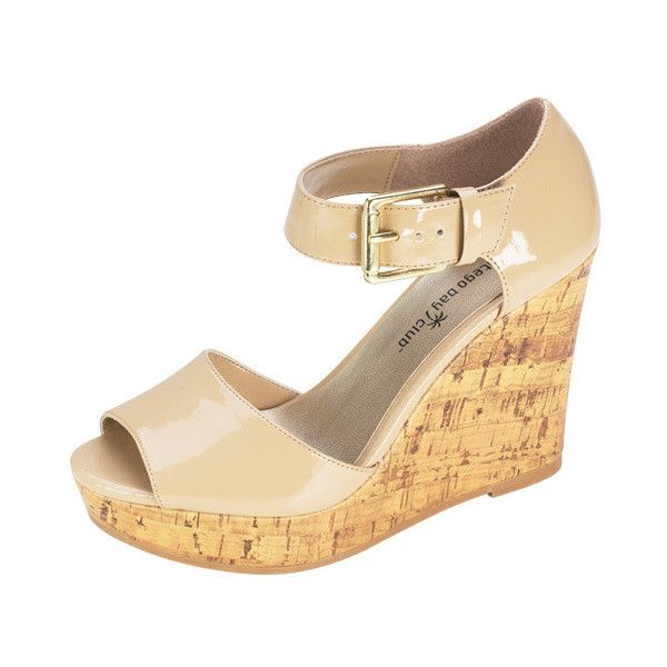 3cb627079e Womens Montego Bay Club Runway Platform Wedge Payless ShoeSource found on  Polyvore featuring polyvore, women's fashion, shoes, ankle tie shoes, ...