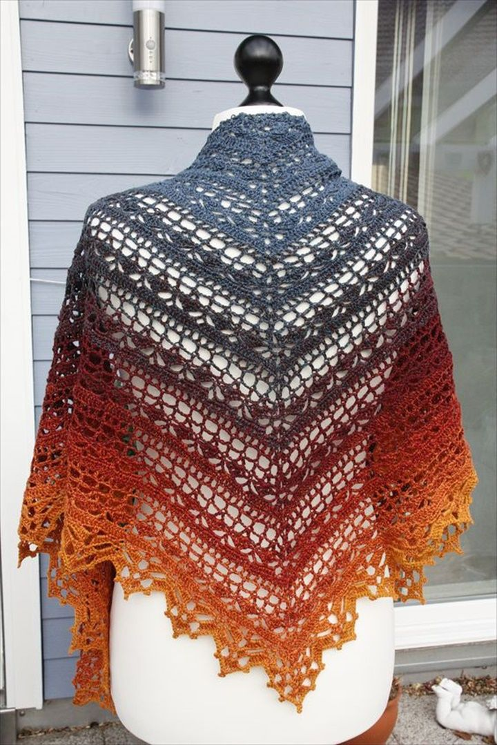 25 Diy Crochet Shawl Patterns 编织 披肩斗篷