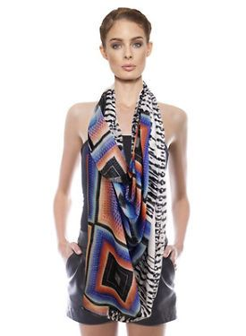 This geometric print scarf is a favorite for fall layering