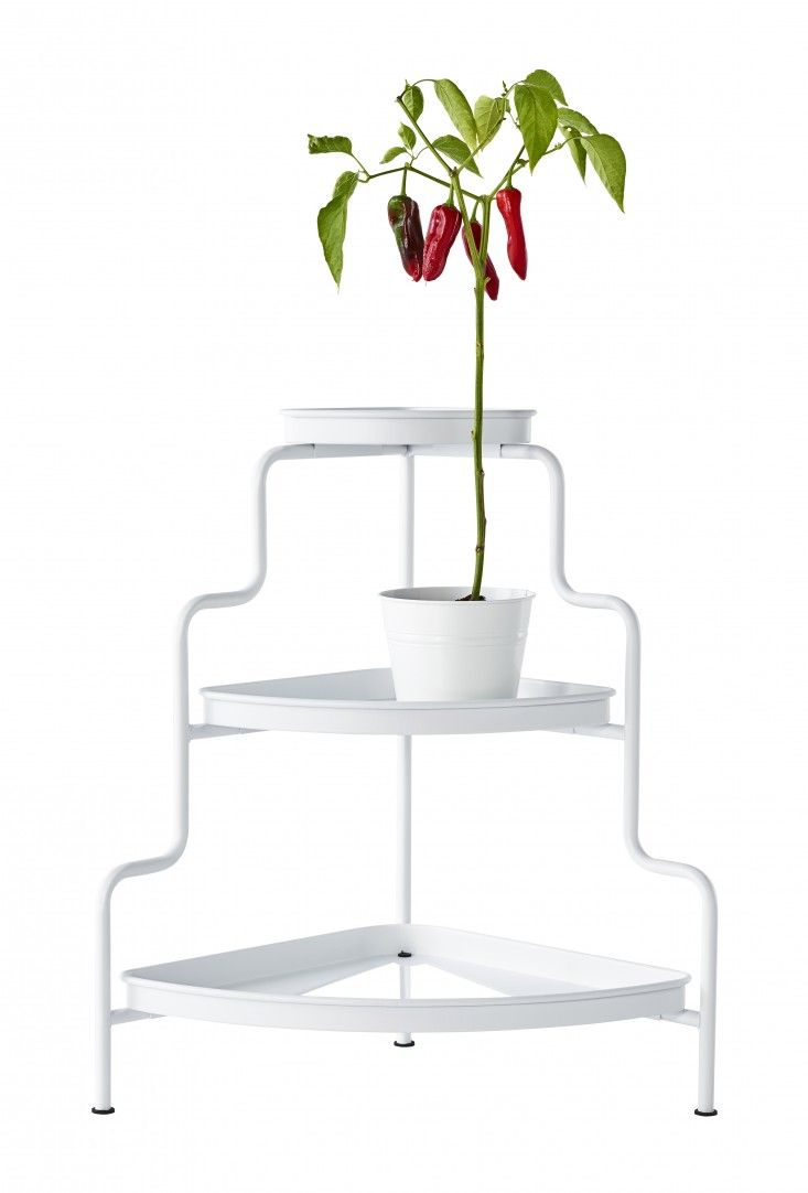 Ikea Socker Tiered Plant Stand A Compact Three Tier 34 99 Fits Into Corner To Hold Potted Plants