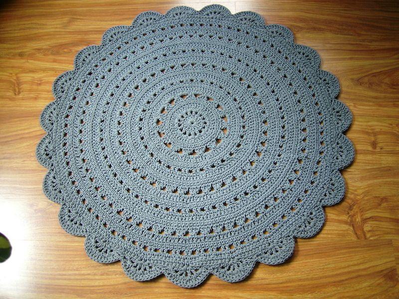 Runde häkeln Deckchen Teppich / Häkeln Teppich   Rund häkeln ...