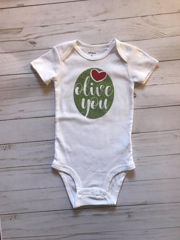 Olive You Cute onesies, Onesies, Baby olive