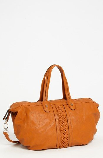 Emperia Braid Detailed Faux Leather Satchel, Large available at #Nordstrom
