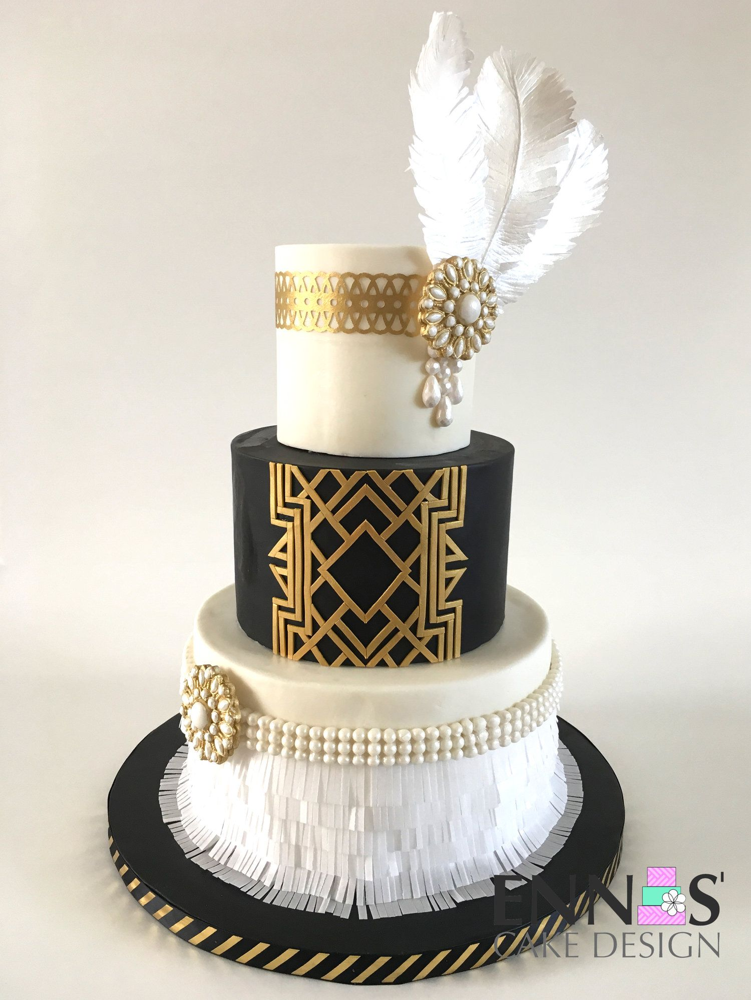 Great Gatsby Cake Video Tutorial With Images Gatsby Cake
