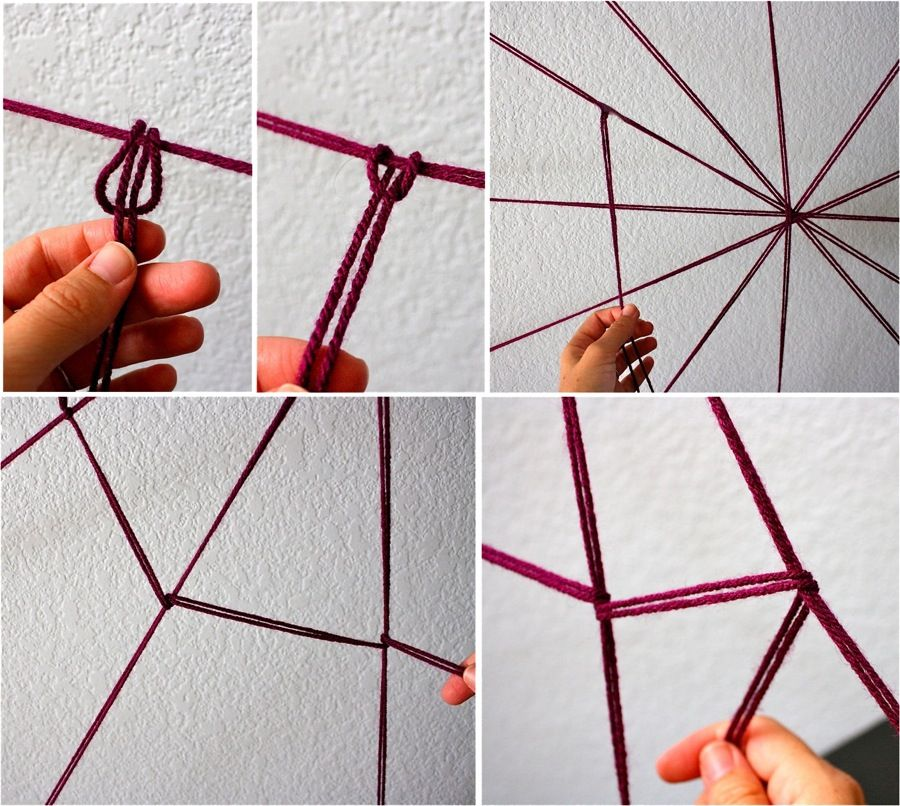 creating the diy yarn spider web diy halloween decorations spooky spider web and a giant