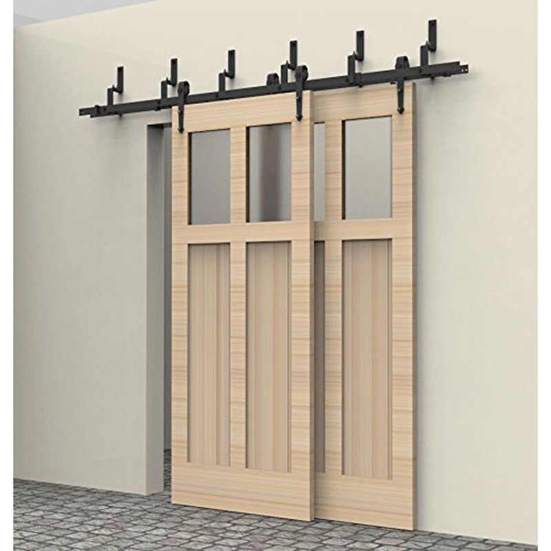 12 Ft By Pass Sliding Barn Door Hardware Track Kit Closet Arrow Bypass Barn Door Hardware Barn Door Barn Doors Sliding