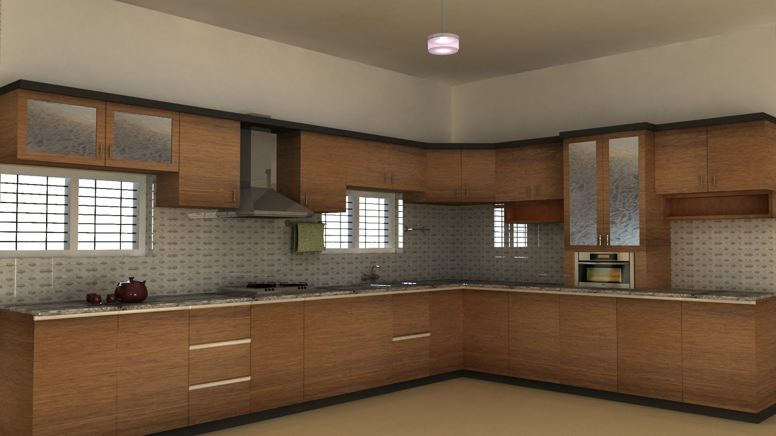 Kitchen design for indian style - Modern Kitchen Cabinets In India Photo