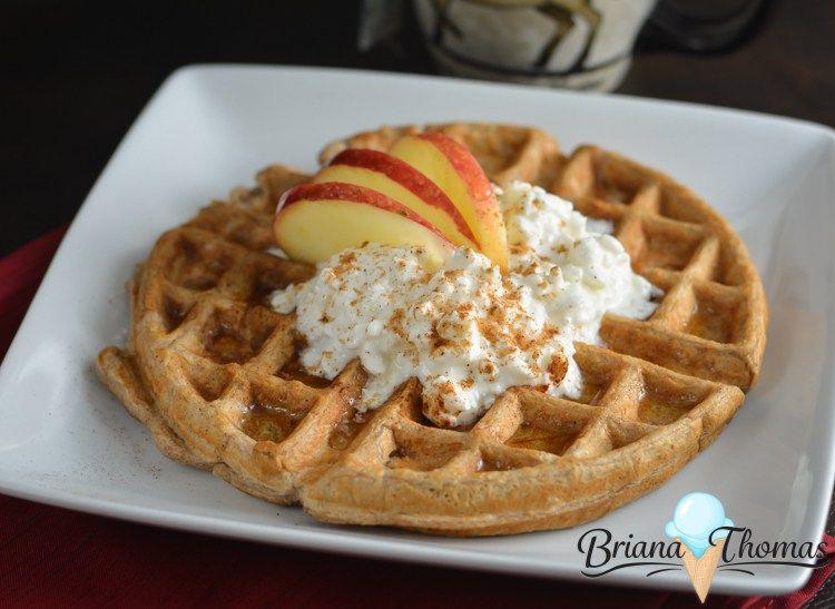 Apple Cinnamon Waffle Recipe Cinnamon waffles, Apple