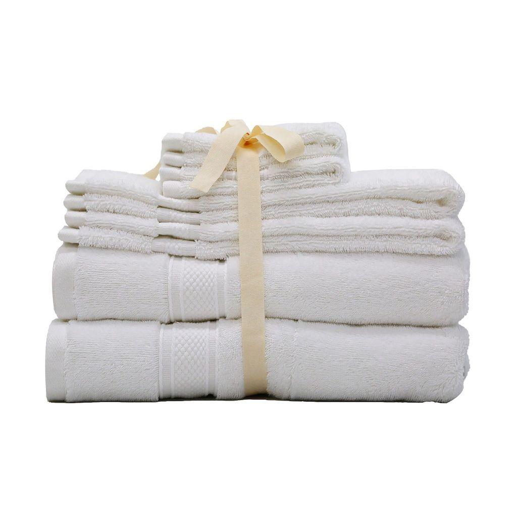 Hotel Suite Triblend 6-piece Bath Towel Set, White, 6 Pc Set  Hotel Suite Triblend 6-piece Bath Towel Set, White, 6 Pc Set  #6Piece #Bath #Hotel #Set #Suite #Towel #Triblend #White