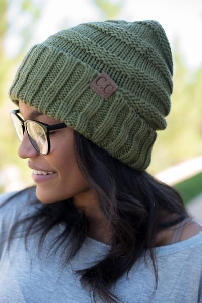 ac3216aa337 CC oversized solid slouchy beanie olive Slouchy Beanie